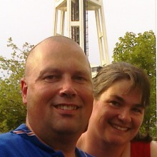 David & Michelle Wicks at the Space Needle